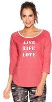 M&Co Training Zone 'Love life' slogan top