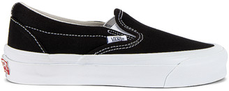Vans OG Classic Slip-On LX in Black & True White | FWRD