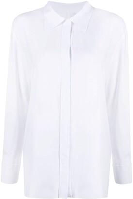 Norma Kamali Concealed-Placket Shirt