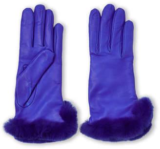 Lab Srl Real Fur-Trimmed Leather Gloves