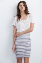 Kipp Shirred Knit Stripe Skirt