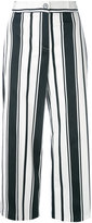 Blugirl striped wide-leg trousers - women - Cotton/Spandex/Elastane - 42