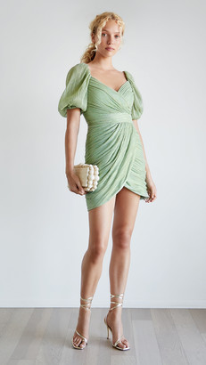 Jonathan Simkhai Nina Plisse Lame Mini Dress