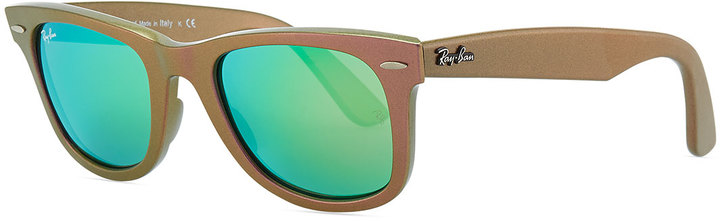 Ray-Ban Wayfarer Sunglasses with Mirrored Lenses, Iridescent Pink