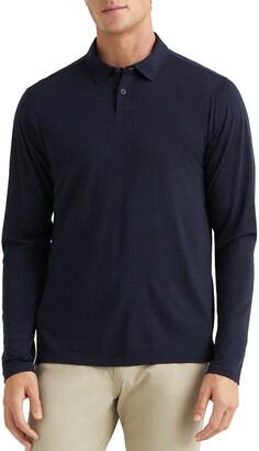 Rhone Trek Stretch Merino Wool Long Sleeve Polo Shirt