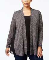 NY Collection Plus Size Layered-Look Sweater
