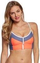 Speedo Women's Zip Front Midi Crop Bikini Top 8148879