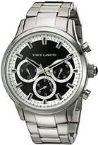 Vince Camuto Men's VC/1087BKSV Multi-Function Dial Silver-Tone Bracelet Watch
