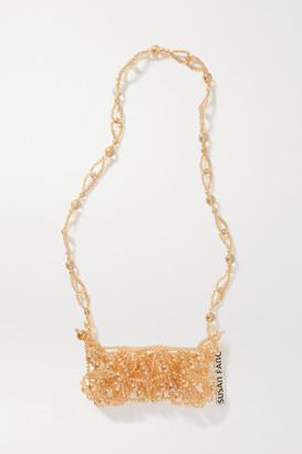 Susan Fang Bubble Phone Beaded Shoulder Bag