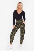 Nasty Gal March On Camo Joggers