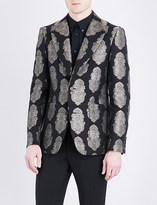 Alexander McQueen Paisley jacquard regular-fit notch-lapel jacket
