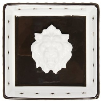 Gucci Lion Head Star-print Porcelain Trinket Tray - White Multi