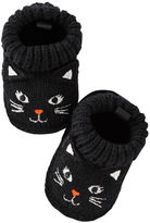 Carter's Black Cat Crocheted Booties
