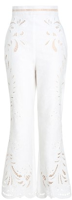 Zimmermann Wavelength Embroidered Pant