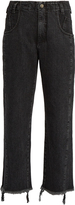 Rachel Comey Trigger frayed mid-rise cropped jeans