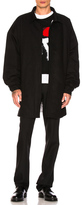 Raf Simons Shirt Coat in Black in Black.