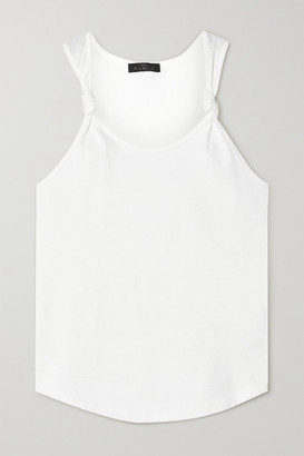 The Range Substance Knotted Cotton-jersey Tank - White