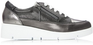 Moda In Pelle Beena Pewter Leather