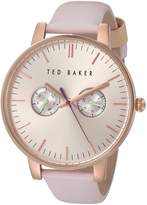 Ted Baker Women's 'Sport' Quartz Stainless Steel and Leather Dress Watch, Color: (Model: 10030747)