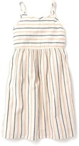 Old Navy Fit & Flare Metallic-Stripe Dress for Girls