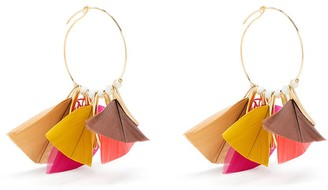 Gas Bijoux Marly hoop feather earrings