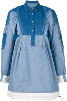 Sacai patchwork denim dress - women - Cotton/Linen/Flax/Nylon - 3
