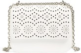 Chelsea28 Dahlia Perforated Faux Leather Shoulder Bag - White