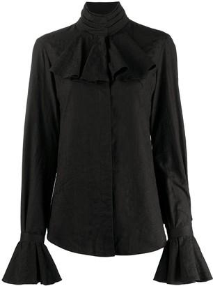Moschino Jabot-Collar Shirt