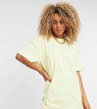 Collusion mini t-shirt dress in lemon