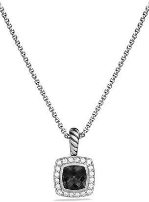 David Yurman Albion Petite Pendant with Semiprecious Stone & Diamonds on Chain