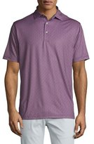Peter Millar Sean Printed Stretch Polo Shirt, Navy