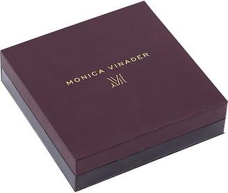 Monica Vinader Riva Mini Circle 18ct gold-vermeil and diamond necklace