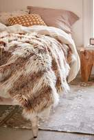 Urban Outfitters Faux Russian Lynx Throw Blanket
