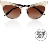 Dolce & Gabbana Cat Eye Sunglasses- Gold