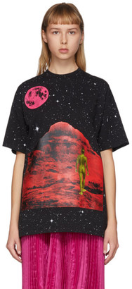 Christopher Kane Black Mountain Lady Star T-Shirt