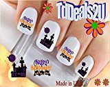 Holiday Halloween - Happy Halloween Set #1 Haunted House WaterSlide Nail Art Decals - Highest Quality! Made in USA