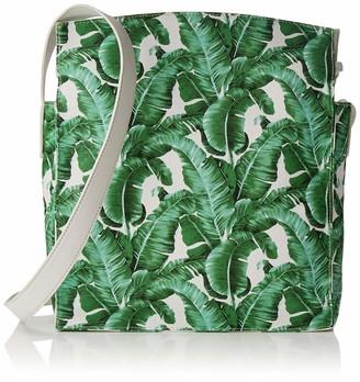 Joe Browns Womens Palm Breezes Bag Canvas and Beach Tote Bag Multicolour (White Multi-A) 9x31x25 cm (W x H x L)