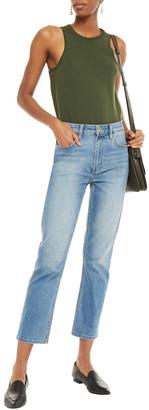 Current/Elliott The Original Cigarette Faded High-rise Slim-leg Jeans