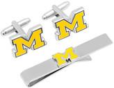 Cufflinks Inc. Men's University of Michigan Cufflinks and Tie Bar Set
