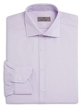 Canali Micro Grid Non Solid Regular Fit Dress Shirt