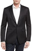 Burberry Stirling Slim-Fit Peak-Lapel Jacquard Sport Jacket, Black
