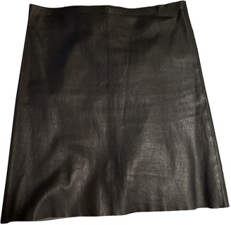 Jitrois Black Leather Skirts