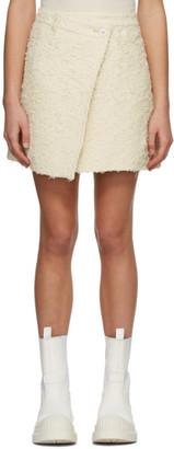 Acne Studios Beige Asymmetric Skirt