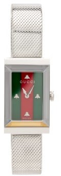Gucci G-frame Web Stripe Stainless-steel Watch - Silver