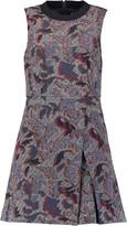 Tory Burch Printed stretch-jacquard mini dress
