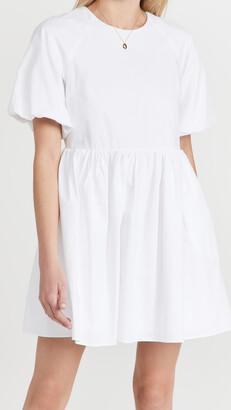 ENGLISH FACTORY Short Balloon Sleeve Mini Dress
