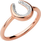 Links of London Ascot Diamond Essentials 18ct Rose Gold Vermeil Horseshoe Ring