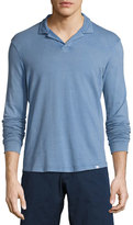 Orlebar Brown Miles Long-Sleeve Polo Shirt, Deepest Blue