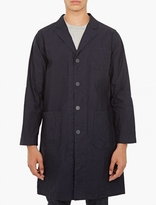 White Mountaineering Navy Cotton-Blend Coat