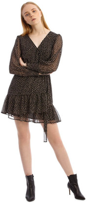 Tokito Shirred Cuff Apron Front Dress